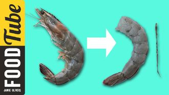 How to de-vein a prawn: Jamie Oliver