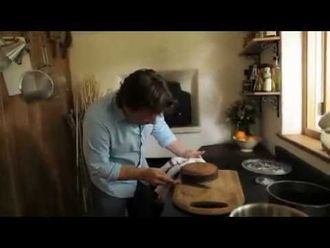 Orange and polenta cake in a wood fired oven: Jamie Oliver