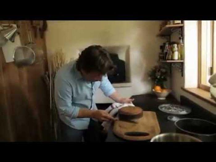 Orange and polenta cake in a wood fired oven: Jamie Oliver