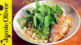 Seabass & lemongrass noodle bowl: Thuy Pham-Kelly