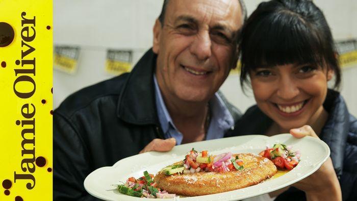 Mushroom Milanese with Criollo Salsa