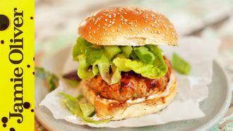 Ultimate tuna burger: DJ BBQ