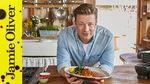 Lemon chicken with smashed sweet potato: Jamie Oliver