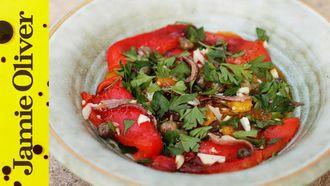 Easy roasted pepper salad: Gennaro Contaldo