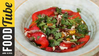 Easy roasted pepper salad: Gennaro Contaldo