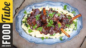 Slow cooked lamb shanks: Jamie Oliver