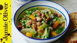 Chunky vegetable soup: Jools Oliver