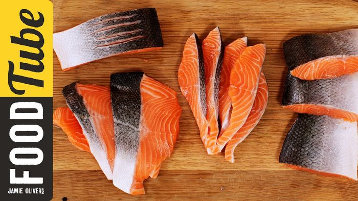 How to fillet a salmon or trout: Jamie Oliver