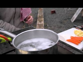 Fresh poached cod with buttered veg: Bart's Fish Tales