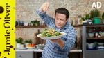 Warm sprout & spinach salad: Jamie Oliver