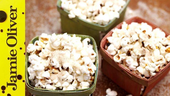 Spiced Christmas popcorn: Jamie Oliver & Gennaro Contaldo