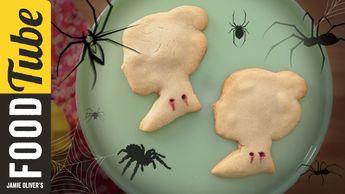 Vampire bite Halloween cookies
