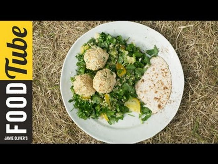 Falafel with Spiced Tabouleh