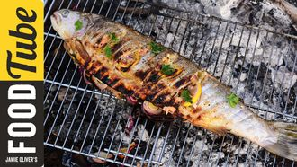 BBQ grilled trout in beer butter: Felicitas Pizarro