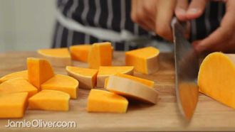 How to prepare butternut squash: Curry Rogan Josh