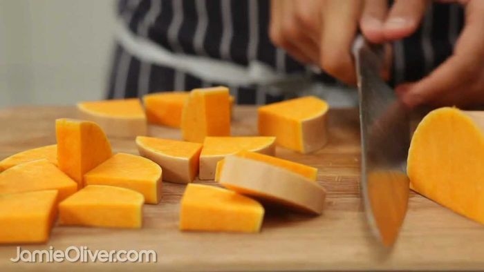How To – prepare butternut squash from curry rogan josh in 30-Minute Meals