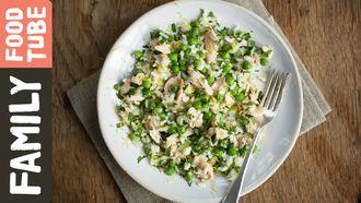 Salmon & pea risotto: Kerryann Dunlop
