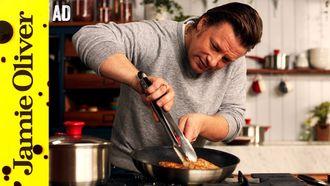Golden chicken with minty veg: Jamie Oliver