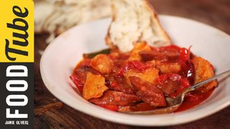 Spanish chorizo & potato stew: Omar Allibhoy
