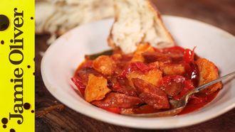 Spanish chorizo & potato stew: Omar Allibhoy