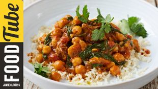 Jamie's lamb and chickpea curry