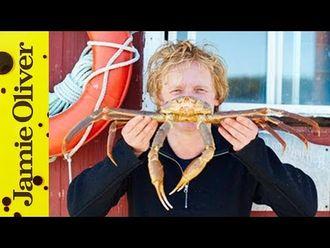 Pan-fried crab in tarragon butter: Bart van Olphen
