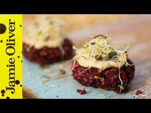 Beetroot & feta burgers