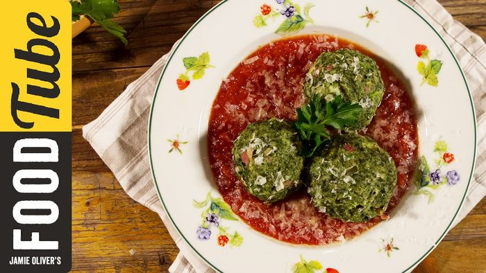 Italian dumplings with spinach & ham: Danny McCubbin