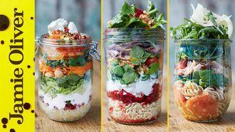 Healthy jam jar salads: Jamie Oliver
