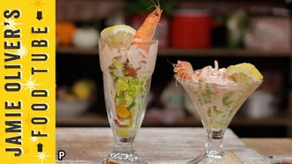 Classic British prawn cocktail: Kerryann Dunlop