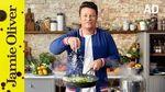 Creamy pea & courgette pasta: Jamie Oliver
