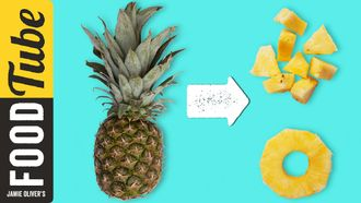 How to prepare a pineapple: Food Busker