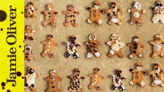 Christmas gingerbread men: Jools Oliver
