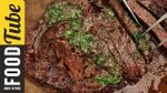 Grilled steak with chimichurri sauce: DJ BBQ & Felicitas