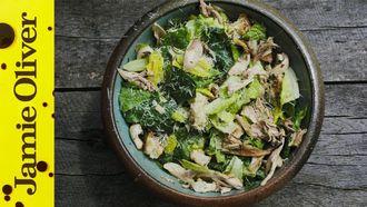 Grilled chicken caesar salad: DJ BBQ
