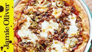 American hot pizza pie