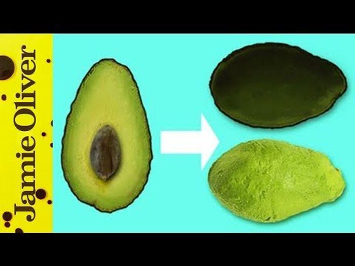 How to de-skin an avocado: Jamie Oliver