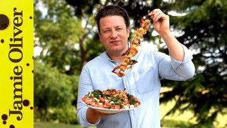 BBQ prawns: Jamie Oliver