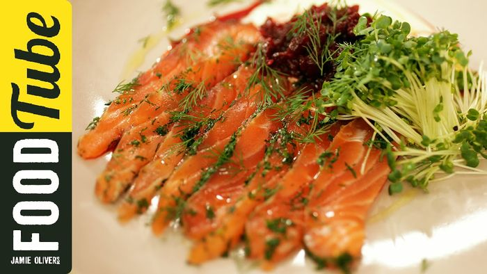Jamie's Perfect Party Food : Salmon Gravadlax