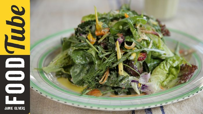 How to make zero fat salad dressing: Jamie Oliver