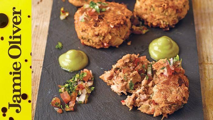 Spicy crab cakes: Shay Ola
