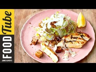 Healthy chicken caesar: Jamie Oliver
