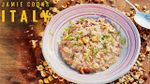 Sausage risotto, bacon & onion dumplings and ham & pea pasta: Jamie Oliver