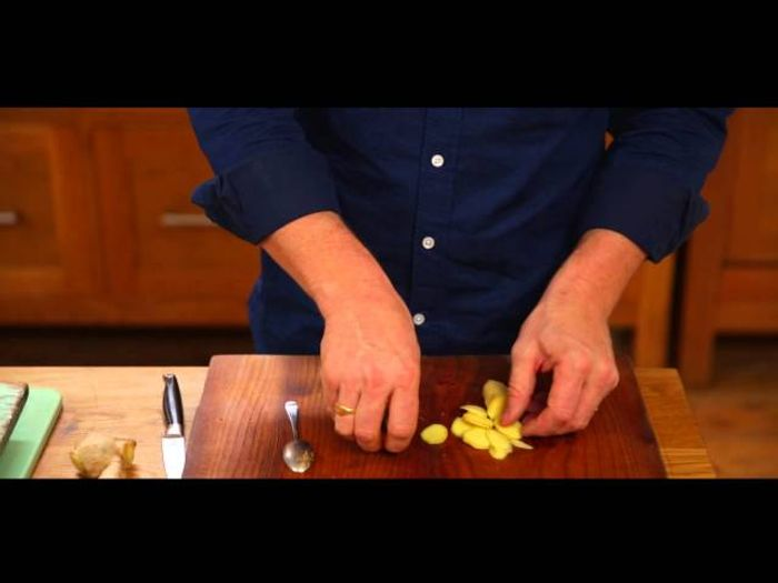 How to peel ginger: Jamie Oliver