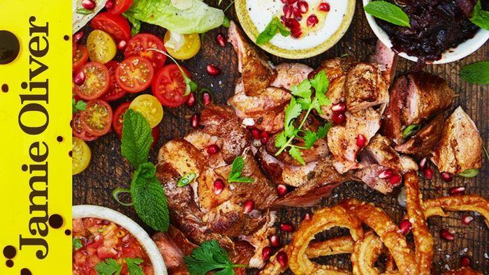 Posh pork kebabs: Jamie Oliver