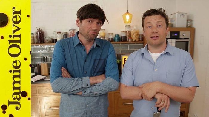 Fantastic cheesy pasta: Jamie Oliver & Alex James