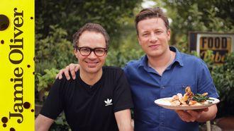 Tray baked crispy trout: Jamie Oliver & Tobie Puttock