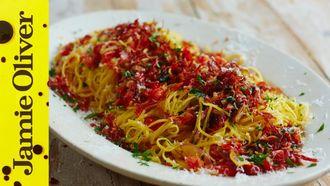 Prosciutto & red pepper taglierini: Gennaro Contaldo
