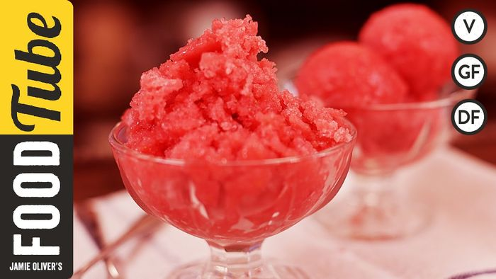 Strawberry & elderflower sorbet: Anna Jones