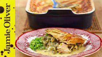 Leftover turkey & leek pie: Kitchen Daddy